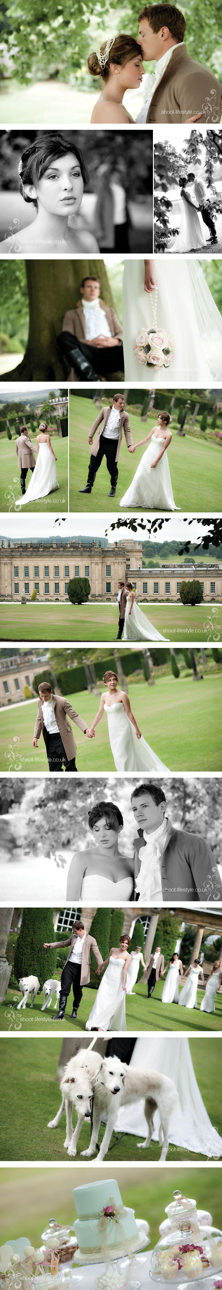 Pride and Prejudice Themed wedding photos.  Love the photos and the outfits