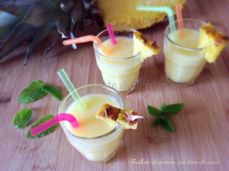 Frullato di ananas con latte di cocco