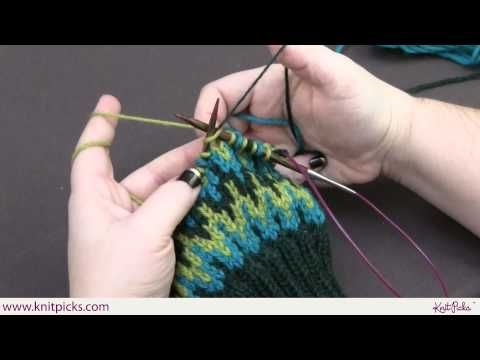 Slipped Stitch Colorwork - YouTube
