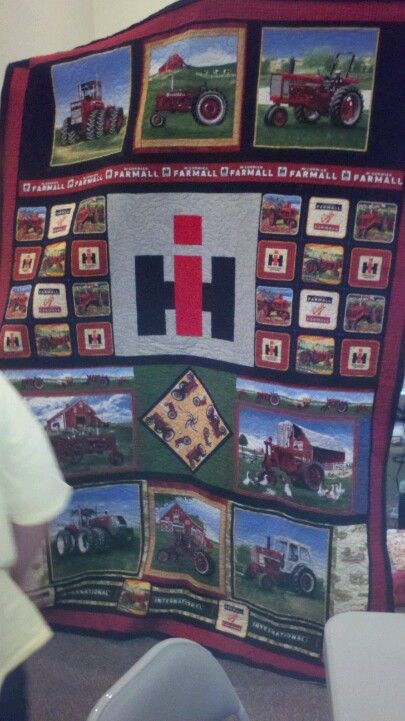 International Harvester quilt I made my brother-in-law
