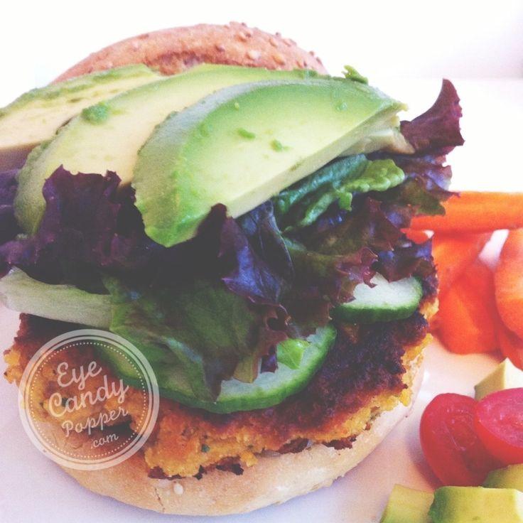 Sweet potato and chickpea burgers (meat-free alternative, gluten-free, soy-free, dairy-free - vegan option)