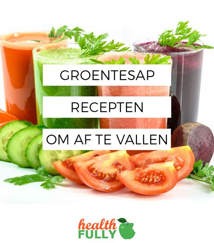 Groentesap recepten. Lekker én gezond. Dé manier om snel en eenvoudig af te vallen.  Ontvang nu tijdelijk het gratis ebook.  http://www.healthfully.nl/groentesap-recepten-afvallen/