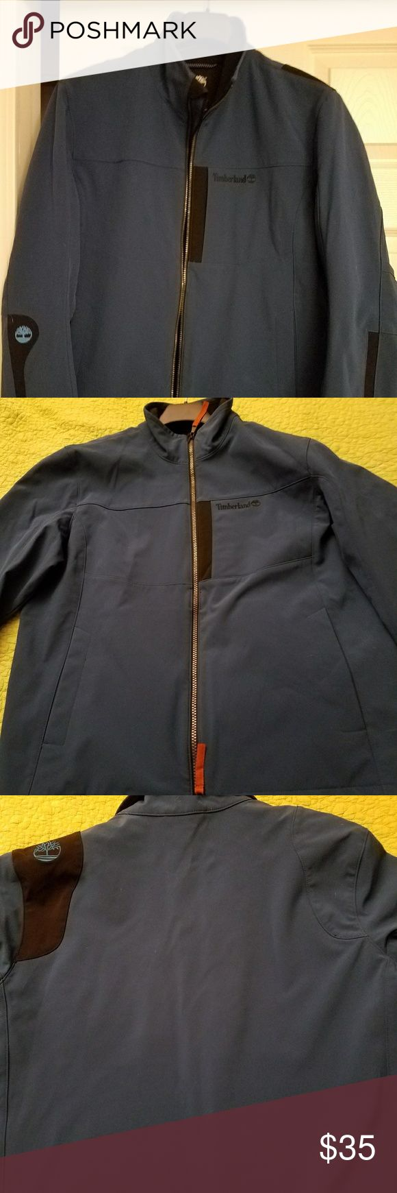 Mens Timberland softball jacket Excellent blue Timberland softshell jacket. Fleece lined,  keeps the elements at bay . Something different than NF. Size large.  22 inches across chest. Timberland Jackets & Coats Performance Jackets