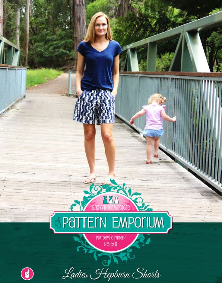 Ladies Pleat Front Hepburn Shorts PDF Pattern