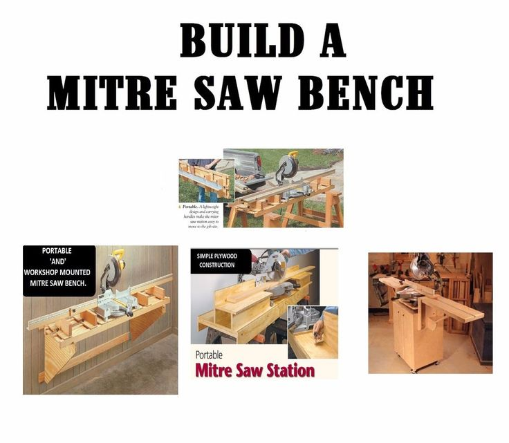 Mitre Saw Stand DIY Build Your Own + 10K Woodworking How Plans #diywoodworking