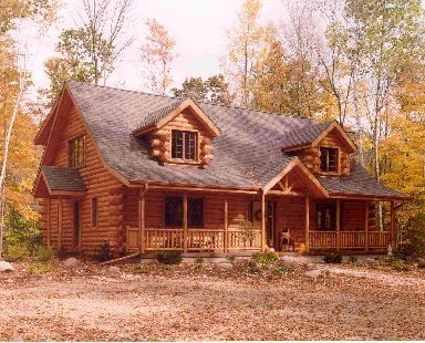 Maplecreek Grundriss von Expedition Log Homes