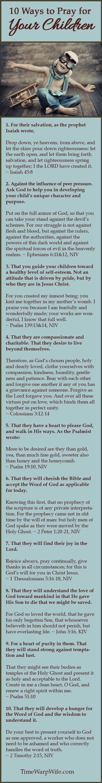 10 Ways to Pray for your children. #prayer