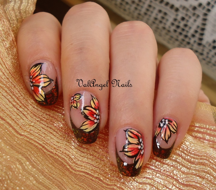 "angel nails art | ValAngel Nails Art: Nail art ""Autumn Leaves"""