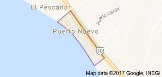 Map of Puerto Nuevo Mexico  lobster village 30 mins on the toll road from the office