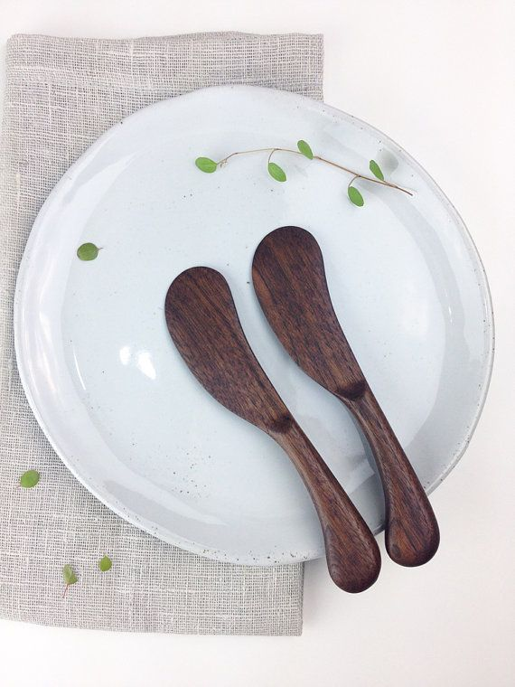 Walnut wooden butter knife / Handmade / Wood / by March8studio