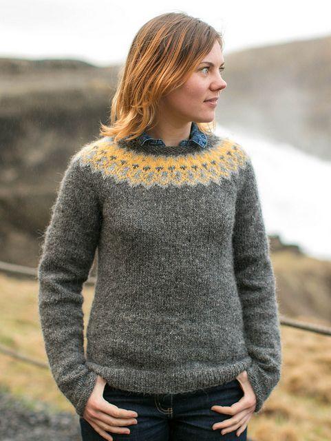 Strokkur by Ysolda Teague via Ravelry Stunning new feminine Fair Isle. With waist shaping! #knitting #fairisle
