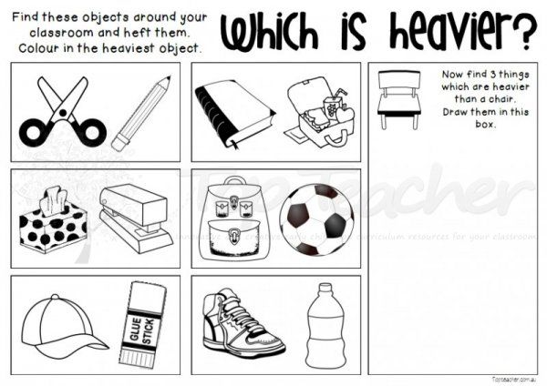 Which is Heavier? | Top Teacher - Innovative and creative early childhood curriculum resources for your classroom