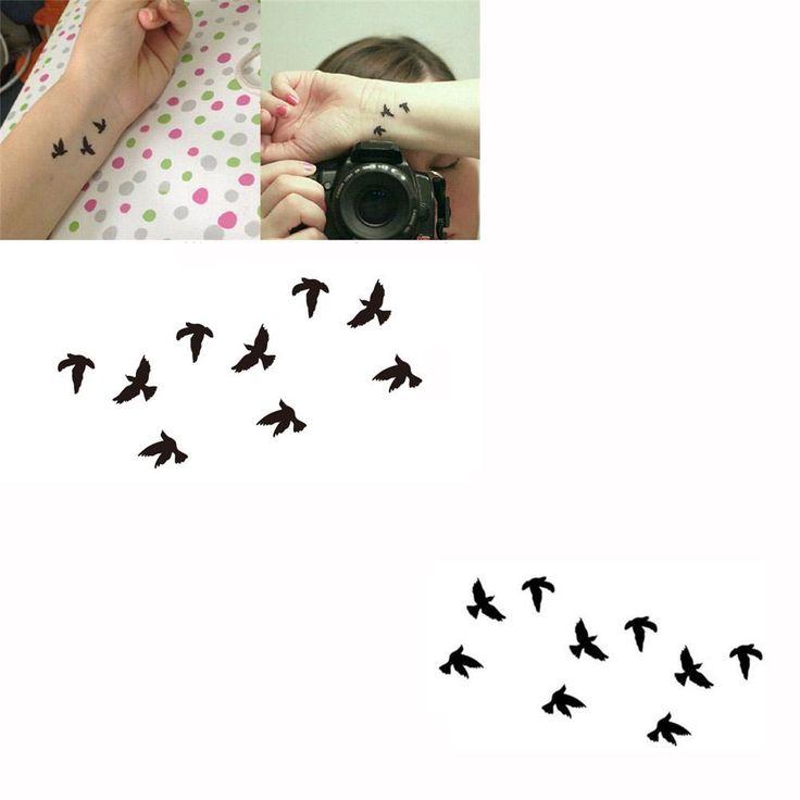 водонепроницаемый боди-арт временные татуировки вспышки татуировки стикер птицы pattern временные татуировки бумаги в категории наклейки татуировки