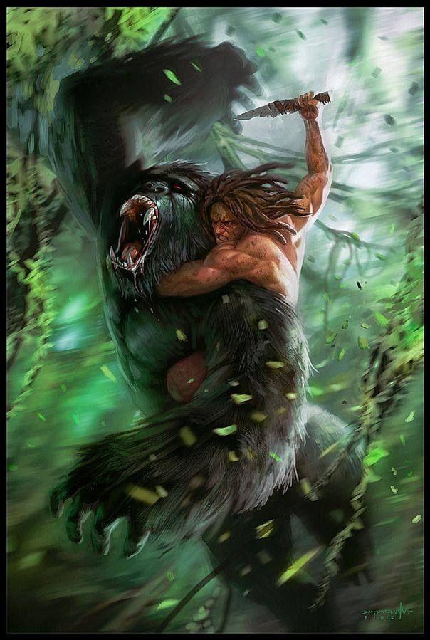 Tarzan vs gorilla environment concepts pinterest tarzan - Tarzan gorille ...