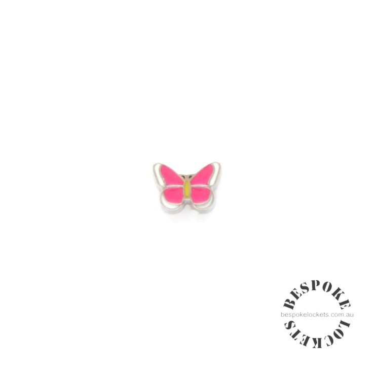 Pink Full Butterfly - Floating Charm