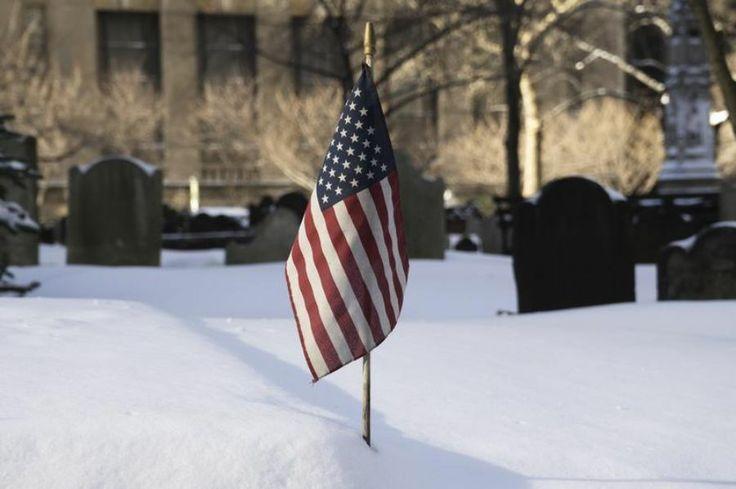 Au cimetière de Trinity Church, à New York, le 3janvier.
