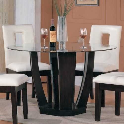 Crix Round Glass Dining Table | Dream Home | Pinterest