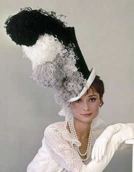 Audrey Hepburn (My Fair Lady 1963) I'd love to see the hat box for that one!