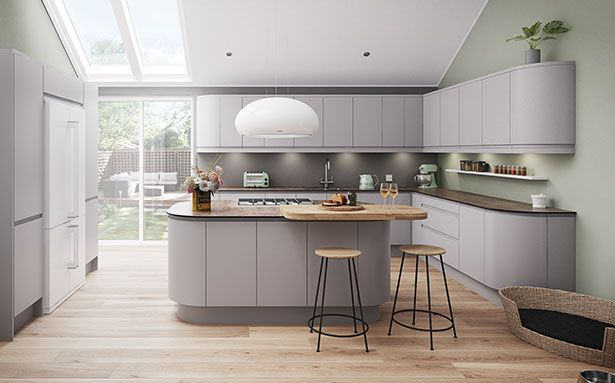 New Kitchen Costs Light Grey Kitchens Grey Kitchen Cabinets