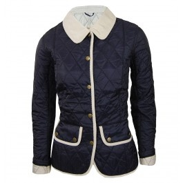 The Barbour Ladies Hambledon Quilt Jacket is part of the Heritage Collection and is a figure hugging polyamide quilt with a vintage wash effect. The Hambledon Quilt jackets features a cord collar and trim in a contrast colour to show a vintage finish. Also features Barbour logo stitched to the front left pocket, two studded front flap pockets, waist adjuster tabs and 100% polyamide self-lined.