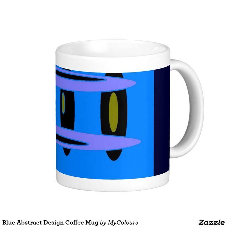 Blue Abstract Design Coffee Mug