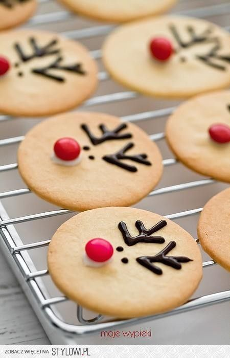 This is a great way to dress up round sugar cookies for Christmas!