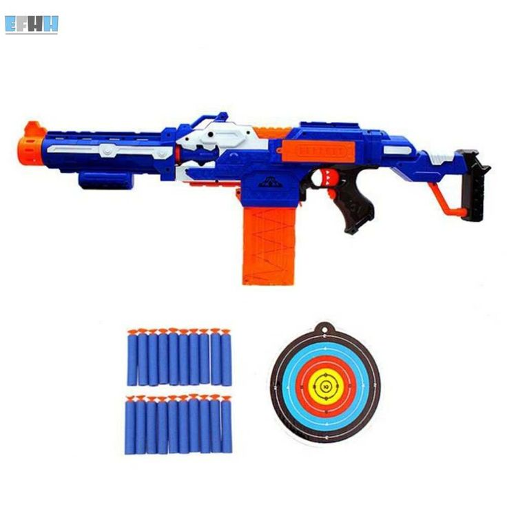 Sniper Rifle Plastic Toy Gun & 20 Soft Bullets 1 Target Electric Gun Toy Christmas Birthday Gift Toy For Boy Good Packing