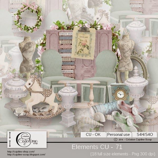 CAJOLINE-SCRAP: Elements CU - 71