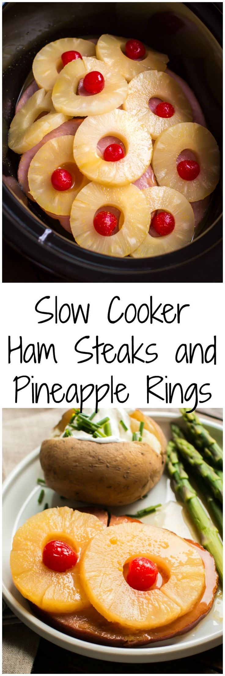 Slow Cooker Ham and Pineapple Rings