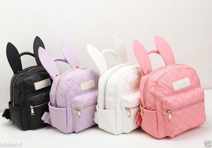 BUNNY EARS backpack wonderland rabbit pastel cute kawaii harajuku small bag amo #Unbranded #Backpack