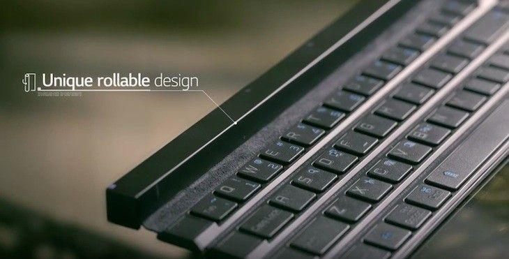 ONE: LG Rolly Keyboard, un teclado QWERTY con un diseño diferente