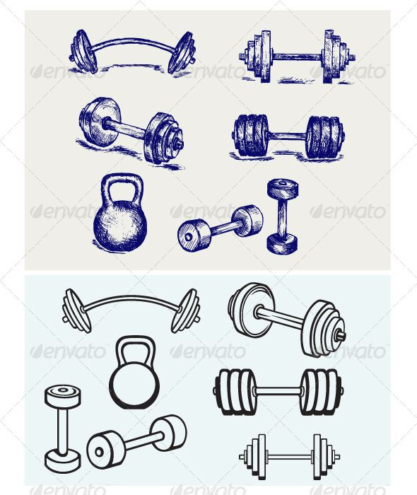Dumbbells Icons