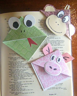 Living and Learning at Home: Paper Hats and Cute Corner Bookmarks