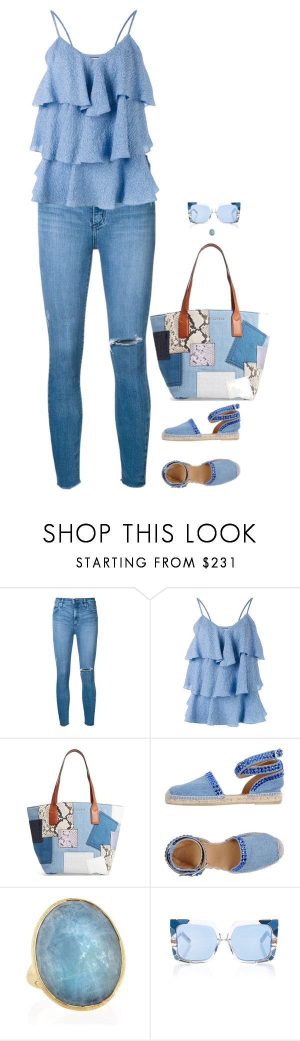 """Untitled #7850"" by miki006 ❤ liked on Polyvore featuring Nobody Denim, Paul & Joe, Marc Jacobs, Philipp Plein, Marco Bicego and Pared"