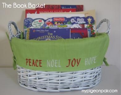 mypigeonpair.com ~ A Christmas Book Basket