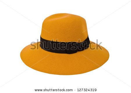 mustard hat isolated on white background