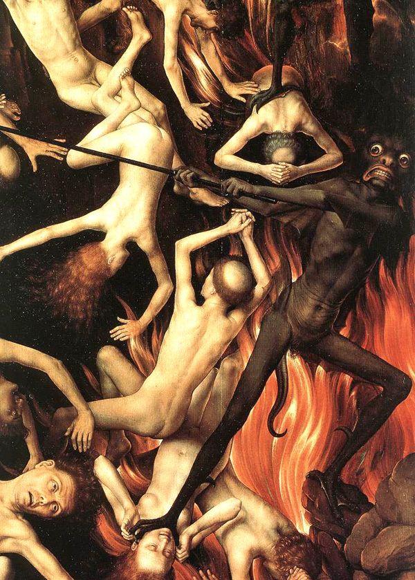 """Sufrimiento y tortura. F.T: Hans Memling """"El juicio final"""" 2013"""