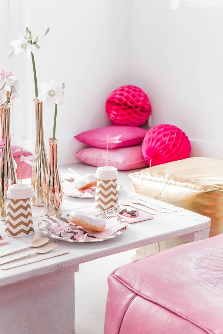 Love pink und gold! White gold bei Pomballon!