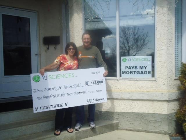 Mortgage? Murray and Patty Fjeld are so excited to be mortgage qualified! A big shout out to YJ Sciences!