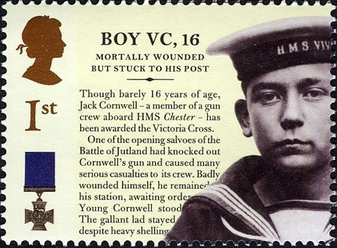 UK Stamp - Victoria Cross - Boy Seaman Jack Cornwell