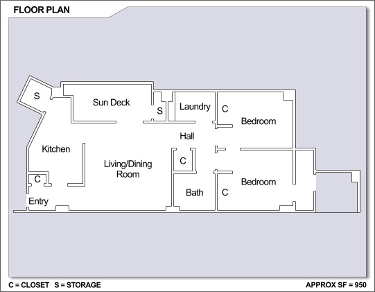 Cfa Yokosuka High Rise 2 Bedroom Apartment Floor Plan Cfa