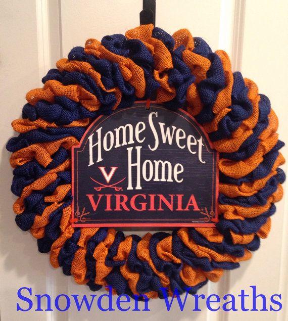 UVA Wreath University of Virginia wreath by SnowdenWreaths on Etsy