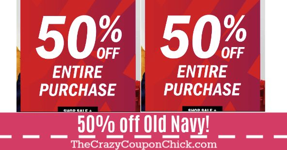 WOW!! Od Navy's Black Friday has Started!! 50% off Everything!