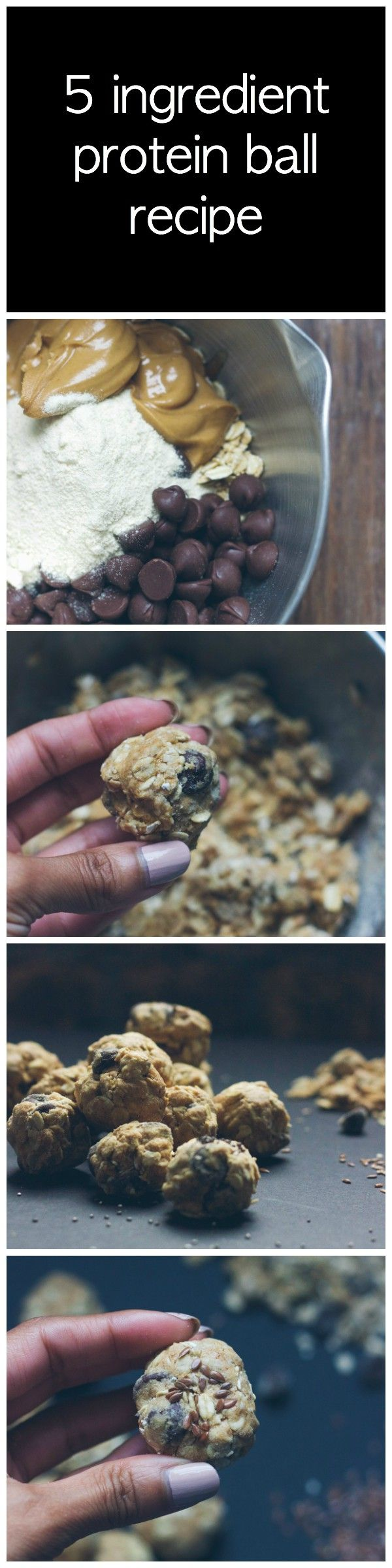 5 ingredient protein ball recipe that takes under 30 minutes! healthy snack, protein recipe