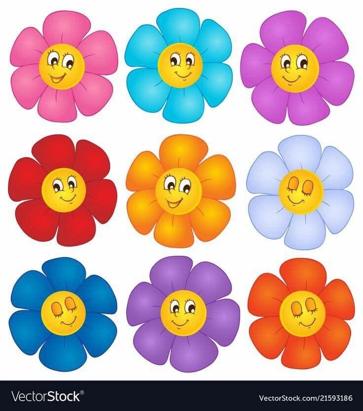 بطاقات رووووعة لتمييز الالوان مفيدة لزيادة التركيز والتواصل البصري عندما يتراوح عمر الطفل مابين 2 3 سنوات يكون قد اصبح مستعد لتعلم الالوان ولكن ليس بالضرورة Cartoon Flowers Teacher Classroom