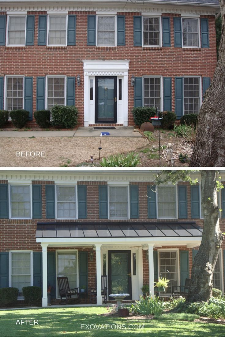Another atlanta georgia home makeover covered porch is a welcome addition to the front