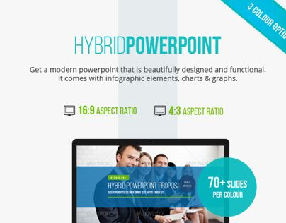 Modern powerpoint design with tons of infographic and chart elements