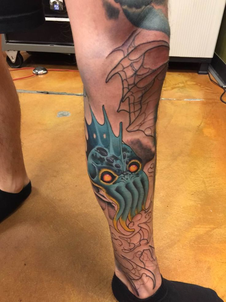 Giant Squid/Ship Leg Piece Session 8 by Jessi @ Classic Tattoo Las Vegas NV
