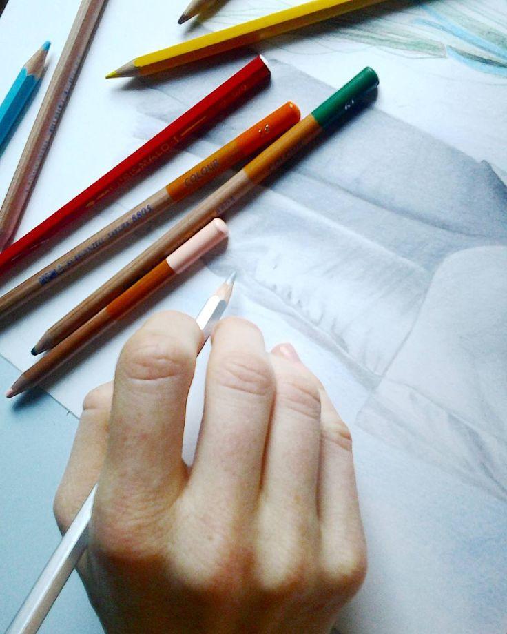 Drawing #drawing #draw #disegno #arte #pastelli #matitecolorate #panneggio #ritratto