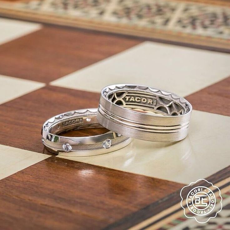 Tacori wedding bands two tone for men